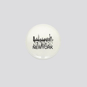 New York Skyline Mini Button