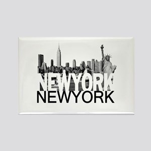 New York Skyline Rectangle Magnet