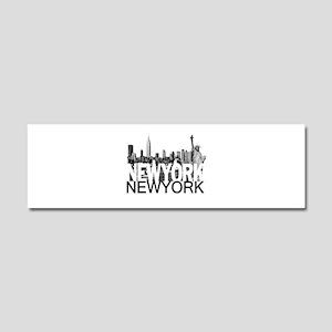 New York Skyline Car Magnet 10 x 3