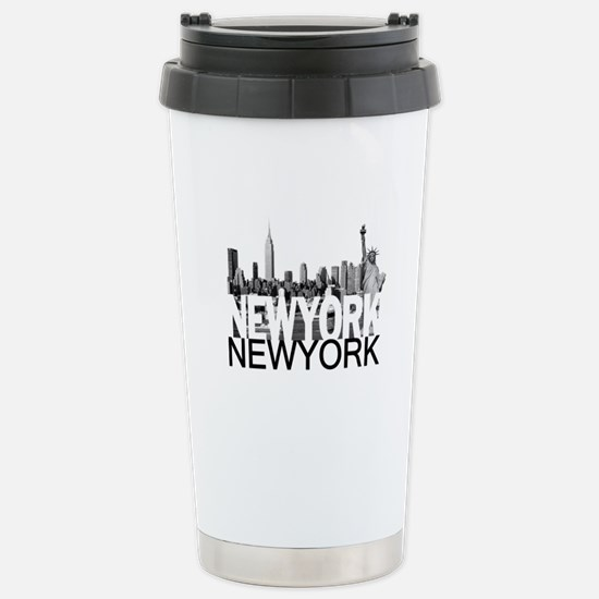 New York Skyline Stainless Steel Travel Mug
