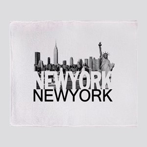 New York Skyline Throw Blanket