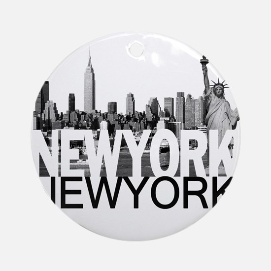 New York Skyline Ornament (Round)