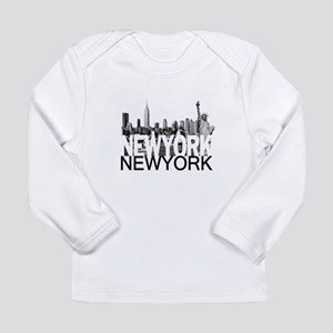 New York Skyline Long Sleeve Infant T-Shirt