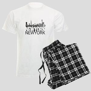 New York Skyline Men's Light Pajamas