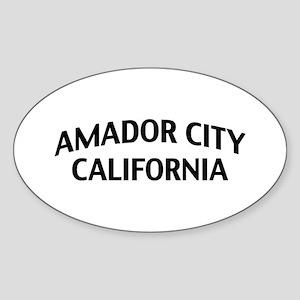 Amador City California Sticker (Oval)