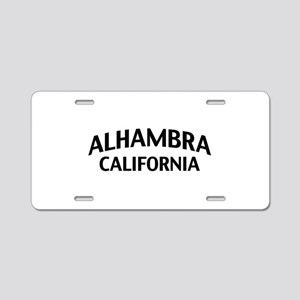 Alhambra California Aluminum License Plate