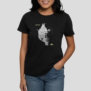 Chicago Women's T-Shirt White on Black