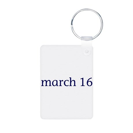 March 16 Aluminum Photo Keychain