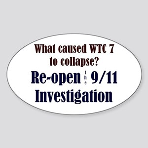 Re-open 9/11 Investigation Oval Sticker