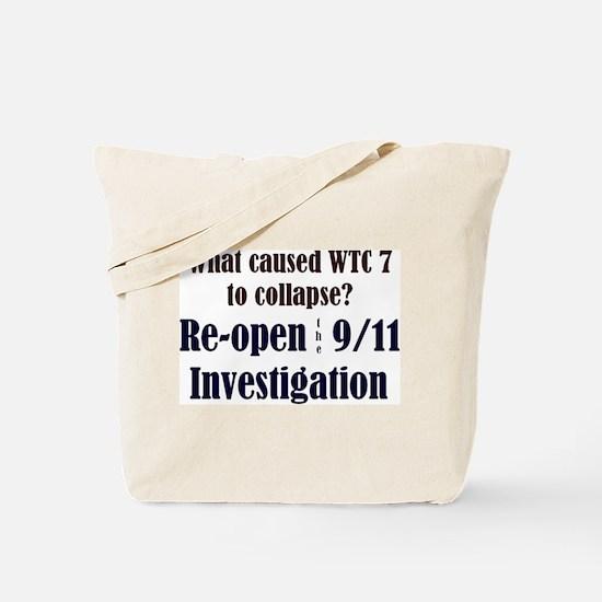 Re-open 9/11 Investigation Tote Bag