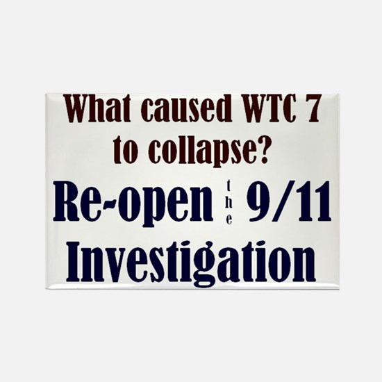 Re-open 9/11 Investigation Rectangle Magnet