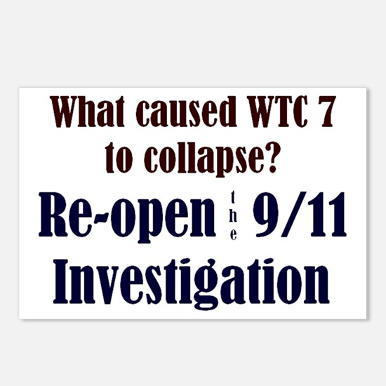 Re-open 9/11 Investigation Postcards (Package of 8