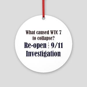 Re-open 9/11 Investigation Ornament (Round)