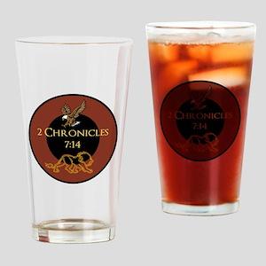 2 Chr 7:14 Lion - Drinking Glass