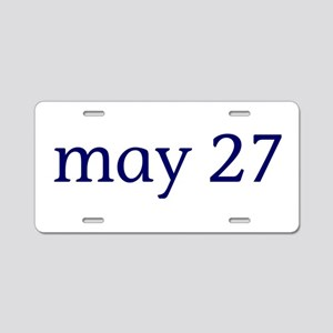 May 27 Aluminum License Plate