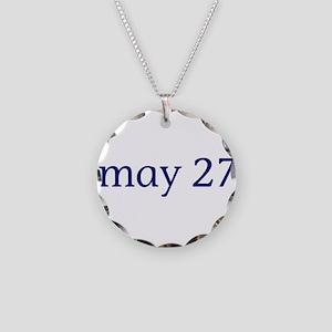 May 27 Necklace Circle Charm