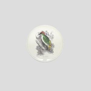 Green Woodpecker Bird Mini Button