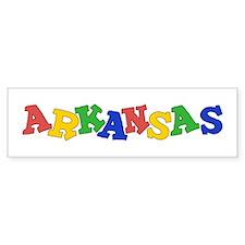 Arkansas (colors) Bumper Sticker