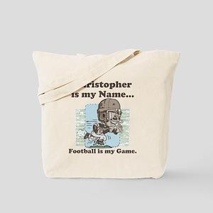 Personalizable Football Star Tote Bag