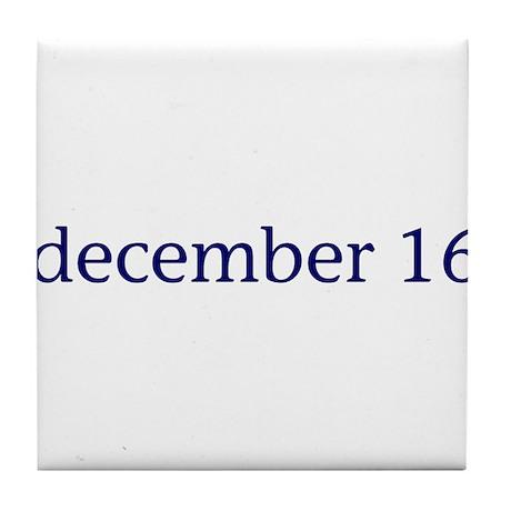 December 16 Tile Coaster