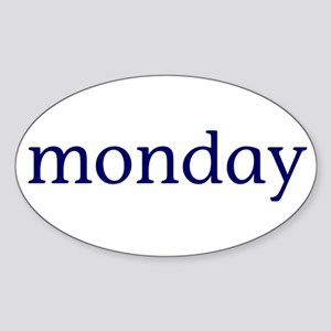 Monday Sticker (Oval)