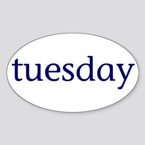 Tuesday Sticker (Oval)