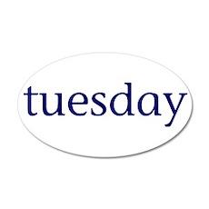 Tuesday 22x14 Oval Wall Peel