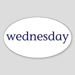 Wednesday Sticker (Oval)