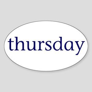 Thursday Sticker (Oval)