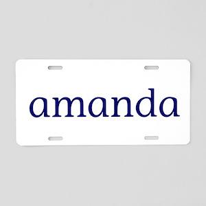 Amanda Aluminum License Plate