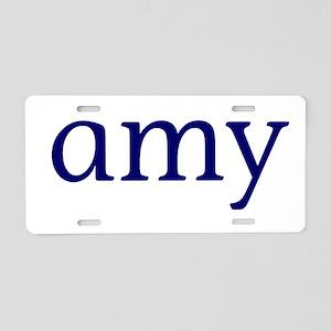 Amy Aluminum License Plate