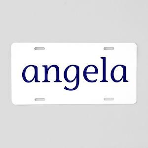 Angela Aluminum License Plate