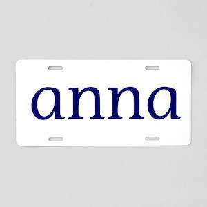 Anna Aluminum License Plate