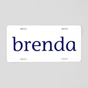 Brenda Aluminum License Plate