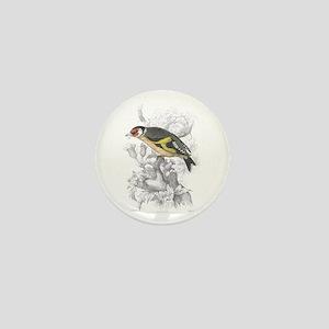 Goldfinch Bird Mini Button
