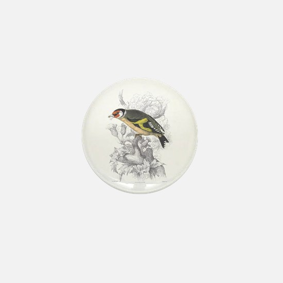 Goldfinch Bird Mini Button
