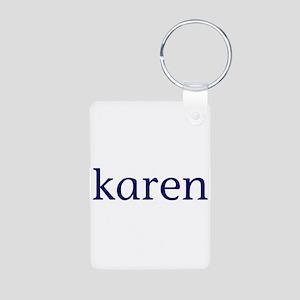 Karen Aluminum Photo Keychain