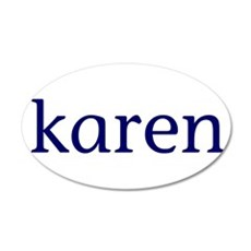 Karen 22x14 Oval Wall Peel