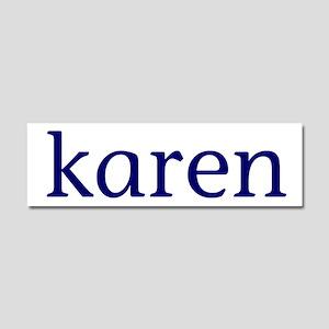 Karen Car Magnet 10 x 3