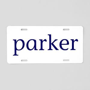 Parker Aluminum License Plate