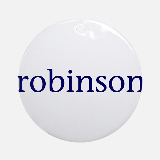 Robinson Ornament (Round)