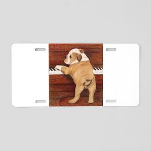 Piano Pup Aluminum License Plate