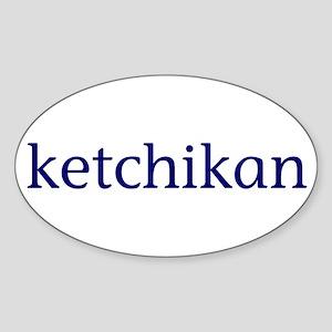 Ketchikan Sticker (Oval)