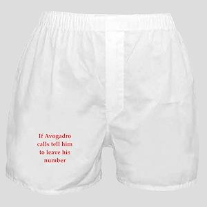 funny chemistry jokes Boxer Shorts