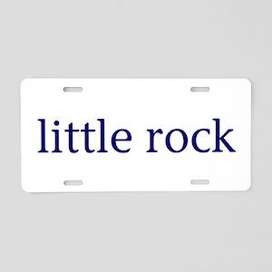 Little Rock Aluminum License Plate