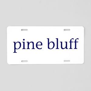 Pine Bluff Aluminum License Plate