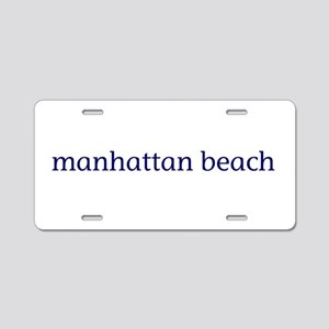 Manhattan Beach Aluminum License Plate