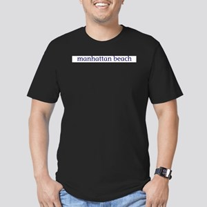Manhattan Beach Men's Fitted T-Shirt (dark)