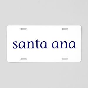 Santa Ana Aluminum License Plate