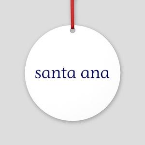 Santa Ana Ornament (Round)
